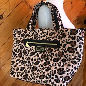 Betsey Johnson Quilted Leopard Print Bag